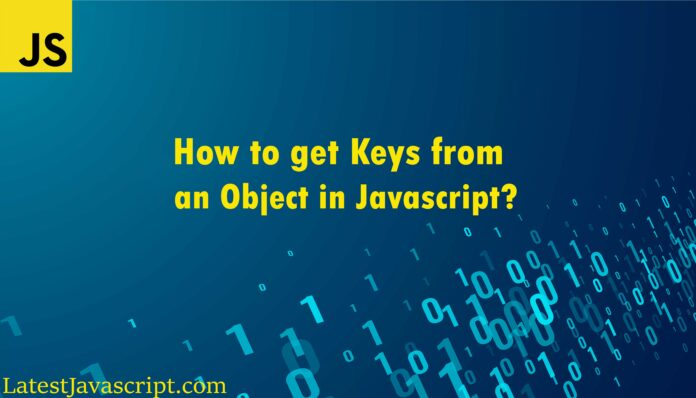 How to get keys from an object in javascript