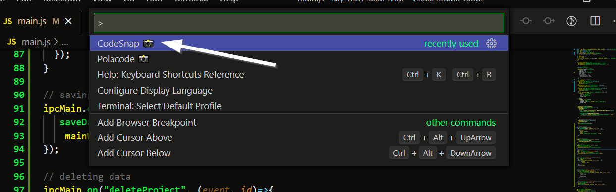 Take a coding screenshot 2