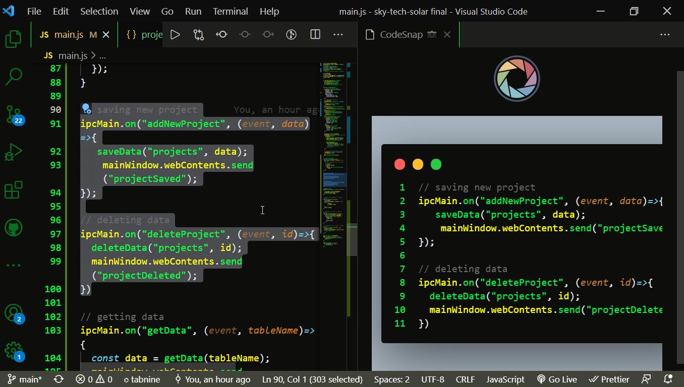 Take a coding screenshot 3